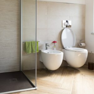 separation wc et bidet superflue